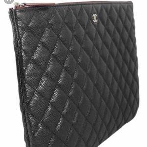 a519ee70fb8e CHANEL Bags | Quilted Caviar Black Pouch Bag Authentic | Poshmark